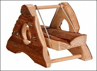Balançoire en bois naturel pour rongeurs