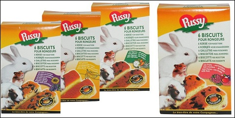 Biscuits Pussy pour rongeurs