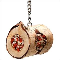 JR Birds rouleau en bois naturel pour oiseau