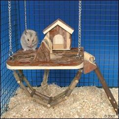 Maison suspendue pour cage à rongeur