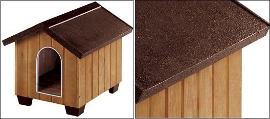 Niche pour chien woody avec toit plat taille m l 104 x l - Fabriquer une niche pour chien pas cher ...